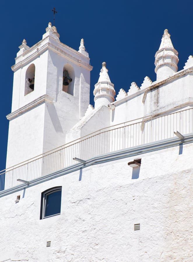Chiesa principale - una precedente moschea (matriz di Igreja) Mertola Baixo l'Alentejo portugal fotografia stock