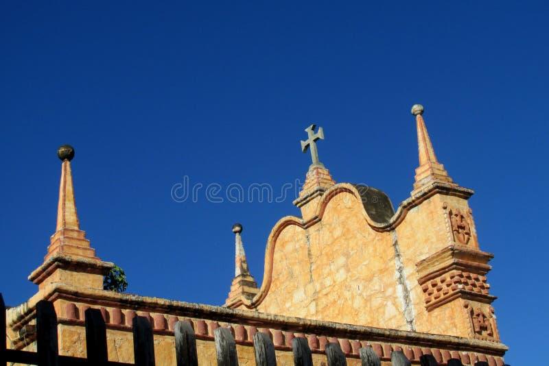 Chiesa in Puerto Quijarro, Santa Cruz, Bolivia immagine stock libera da diritti