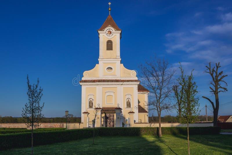 Chiesa in Rabensburg immagini stock libere da diritti