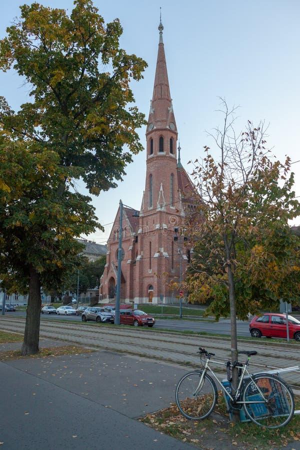 Chiesa riformata a Budapest fotografia stock libera da diritti