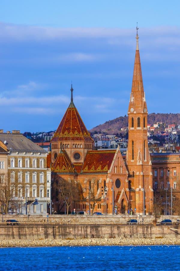 Chiesa riformata a Budapest Ungheria fotografia stock