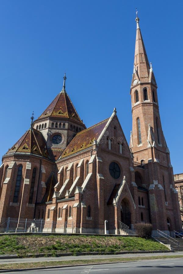 Chiesa riformata a Budapest, Ungheria fotografia stock libera da diritti