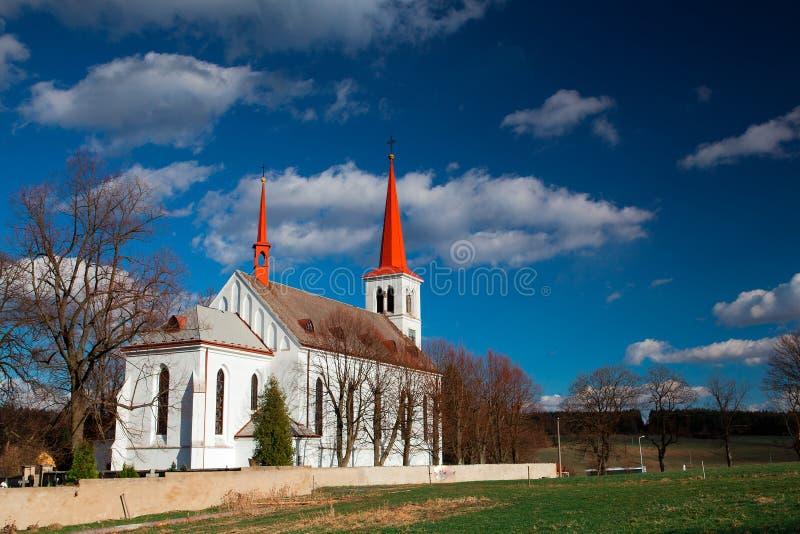 Chiesa ripristinata immagine stock
