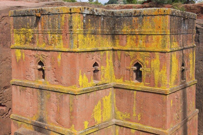Chiesa roccia-spaccata monolitica unica di St George, patrimonio mondiale dell'Unesco, Lalibela, Etiopia immagine stock libera da diritti