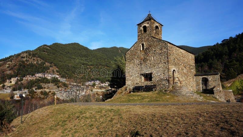 Chiesa romanica della st Cristopher, Andorra fotografie stock libere da diritti