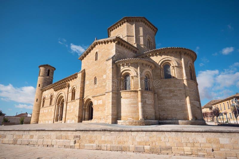 Chiesa romanica famosa in Fromista, Palencia, Spagna fotografia stock
