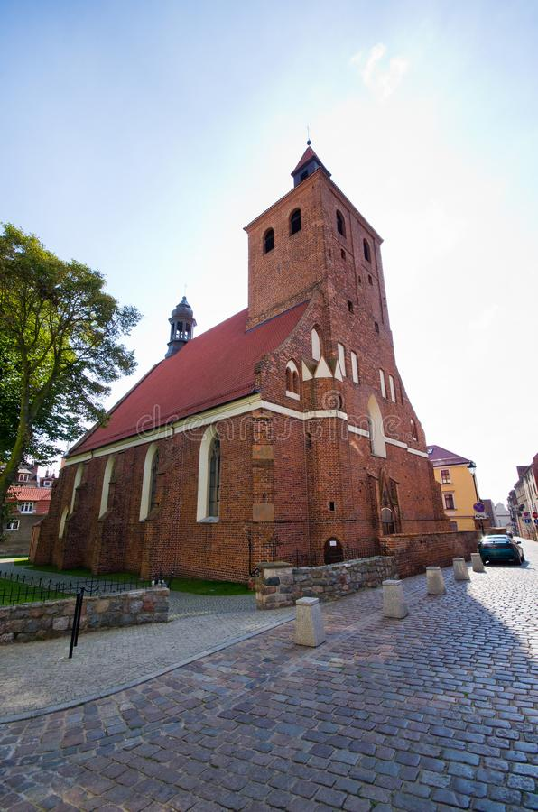 Chiesa rossa in Grudziadz, Polonia fotografia stock