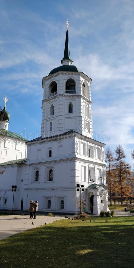 Chiesa russa di Irkutsk, Russia fotografie stock libere da diritti