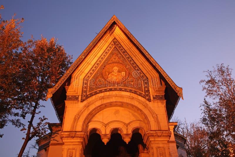 Chiesa russa di San Nicola il Miracolo-creatore a Sofia bulgaria fotografia stock libera da diritti