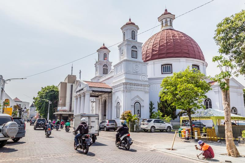 Chiesa a Samarang Indonesiua immagine stock libera da diritti