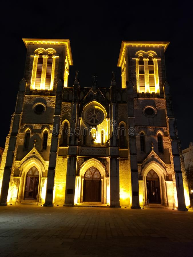 Chiesa a San Antonio fotografie stock libere da diritti