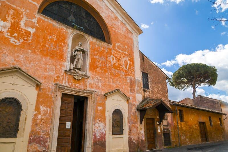 Chiesa San Bonaventura al Palatino en Roma imagenes de archivo