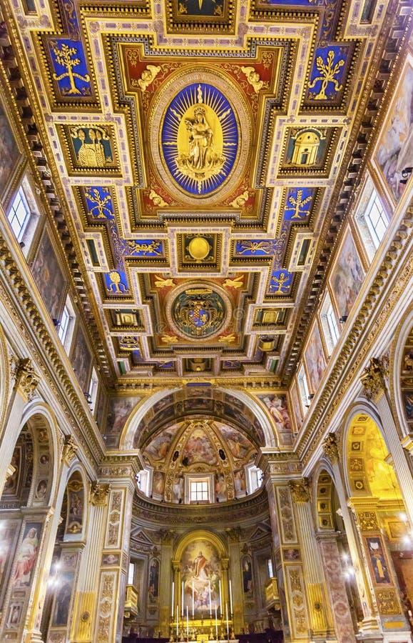 Chiesa San Marcello al Corso Altar Basilica Church Rom Italien lizenzfreie stockbilder