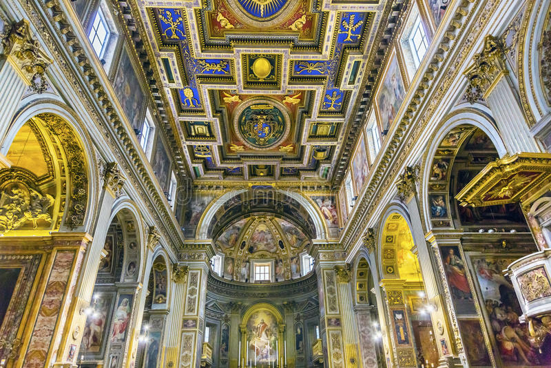 Chiesa San Marcello al Corso Altar Basilica Church Rom Italien stockbild