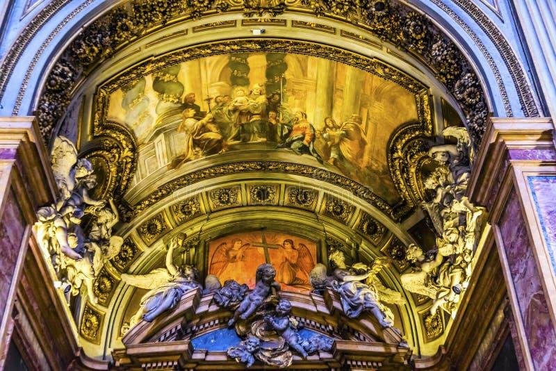 Chiesa San Marcello al Corso Arch Basilica Church Roma Itália fotos de stock