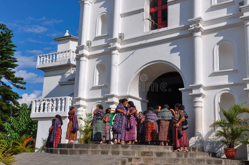 Chiesa in San Pedro la Laguna, Guatemala immagine stock libera da diritti