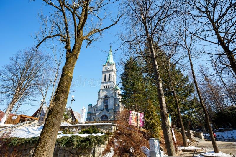 Chiesa santa della famiglia, Zakopane, Polonia immagine stock
