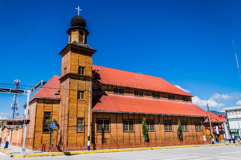 Chiesa Santa Rosa in Oxapampa, Perù immagine stock libera da diritti