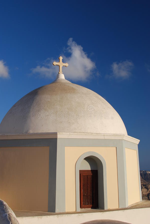 Chiesa in Santorini immagini stock
