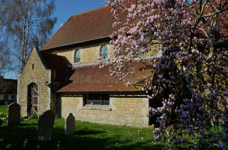 Chiesa scenica di St Paul, Elsted, Sussex, Regno Unito immagine stock