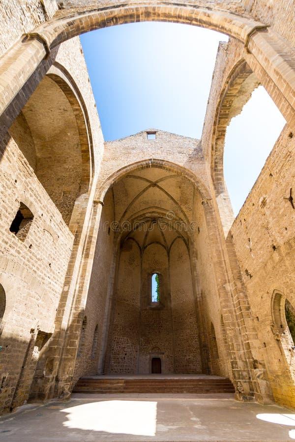 Chiesa senza tetto di Spasimo di dello di Santa Maria a Palermo, Italia fotografia stock libera da diritti