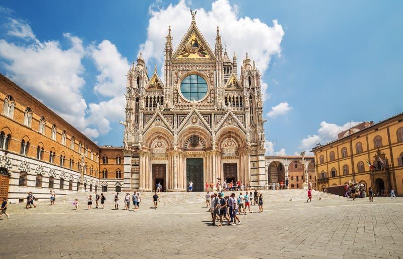 Chiesa a Siena, Italia fotografie stock libere da diritti