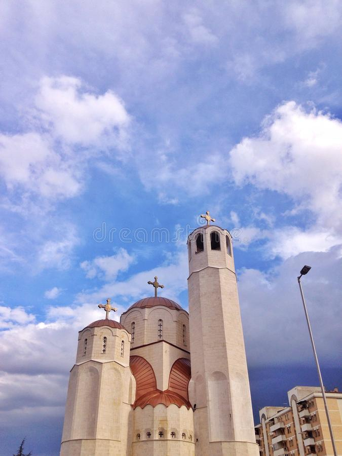 Chiesa a Skopje immagine stock