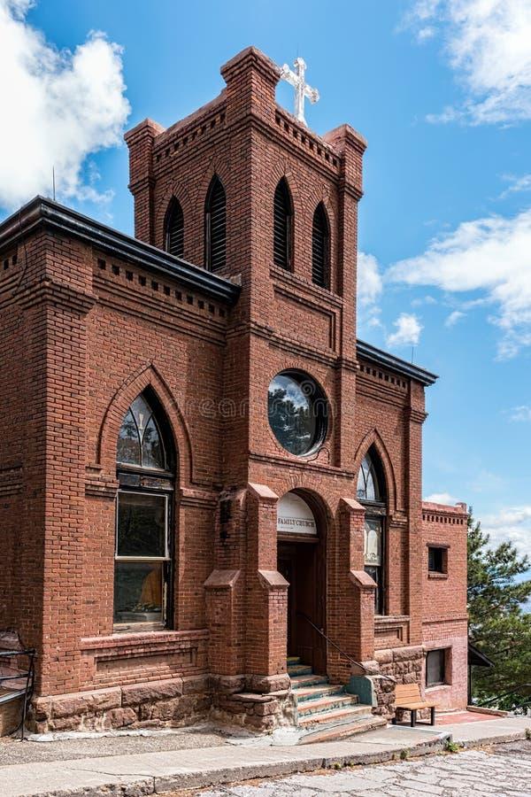 Chiesa storica, Jerome, Arizona fotografia stock libera da diritti