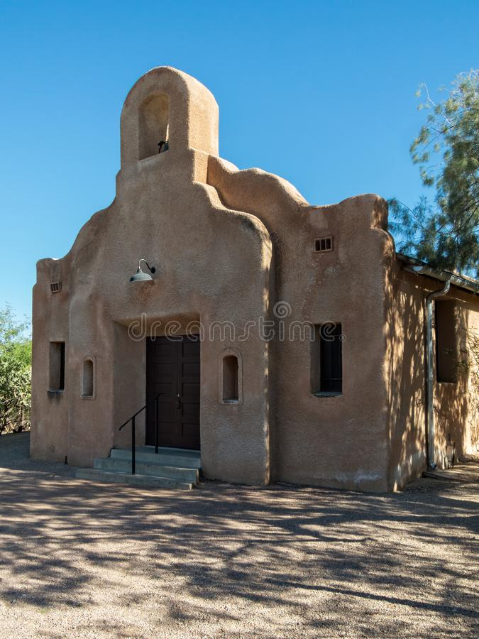 Chiesa storica, Tucson, Arizona immagini stock