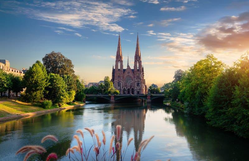 Chiesa a Strasburgo fotografia stock libera da diritti