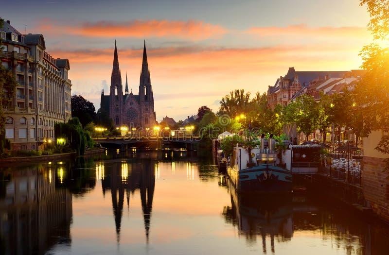 Chiesa a Strasburgo immagine stock libera da diritti