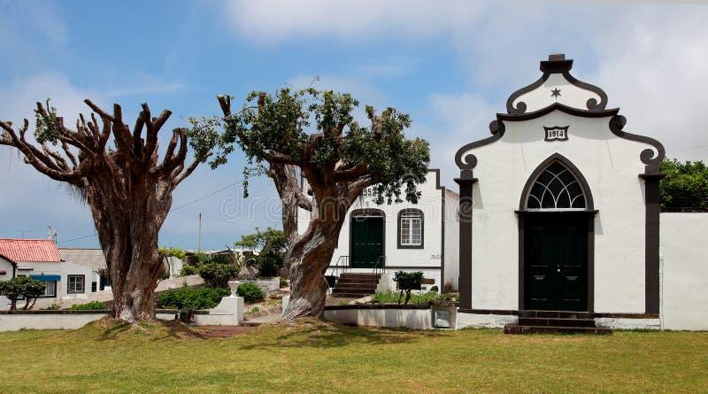 Chiesa sull'isola Pico, Azzorre fotografia stock libera da diritti