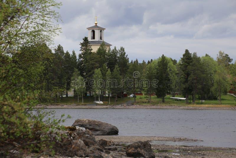 Chiesa in Sunne nella contea di Jamtland, Svezia fotografia stock libera da diritti