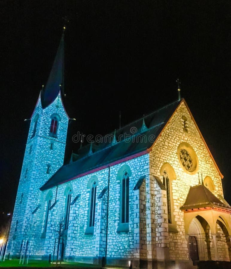 Chiesa in Svizzera fotografie stock