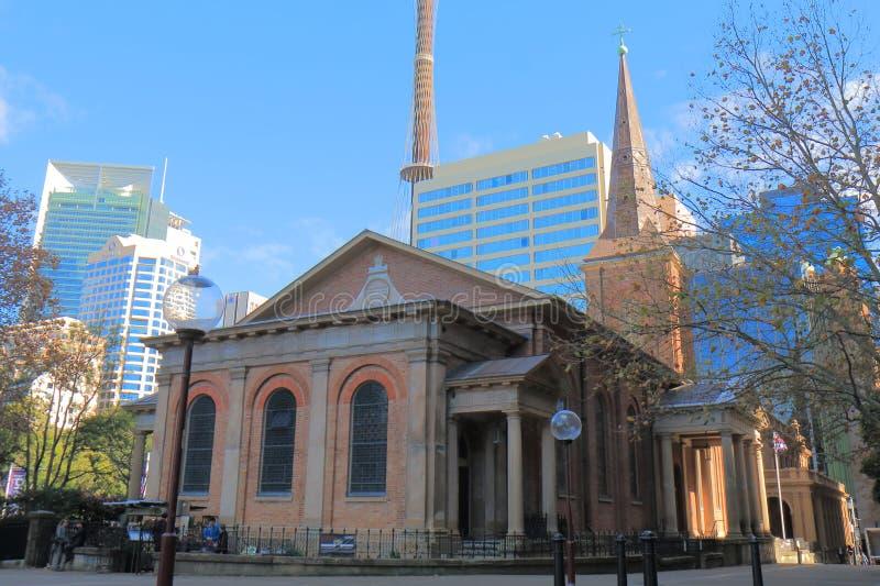 Chiesa Sydney Australia di St James fotografia stock libera da diritti