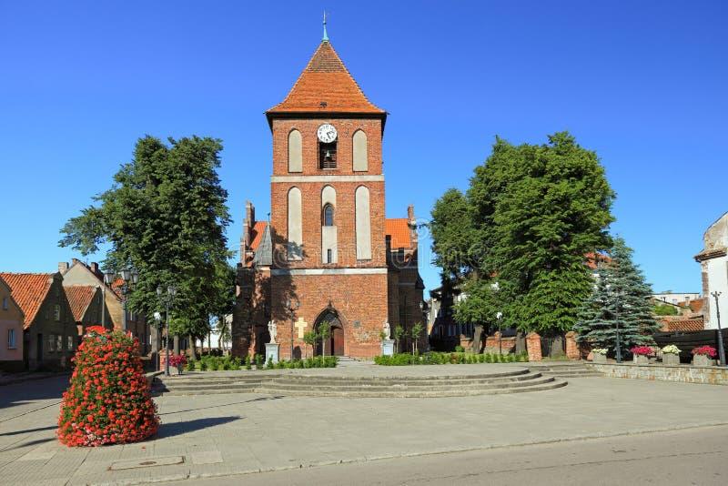 Chiesa in Tolkmicko, Polonia fotografie stock