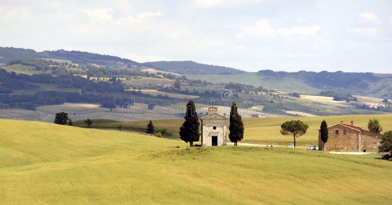 Chiesa toscana fotografia stock libera da diritti
