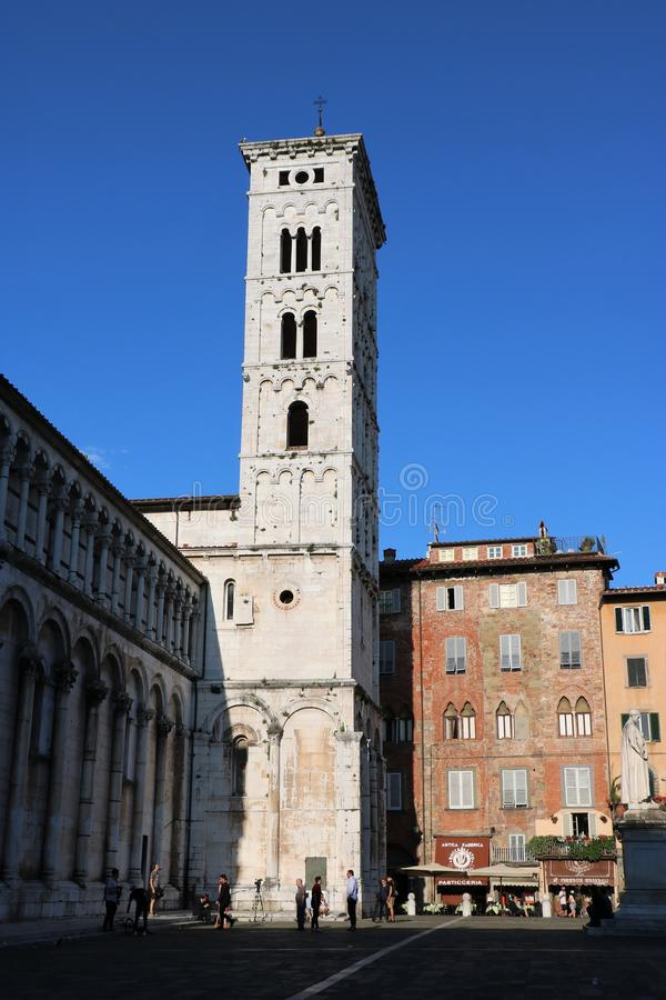 Chiesa Toscana, Italia di Lucca San Michele in foro fotografie stock libere da diritti
