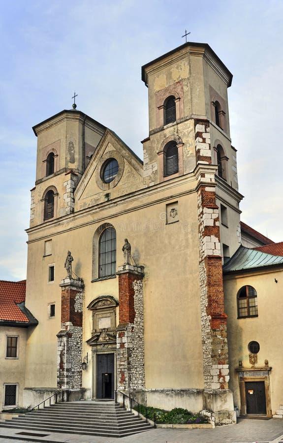 Chiesa in Tyniec, Cracovia, Polonia fotografia stock libera da diritti