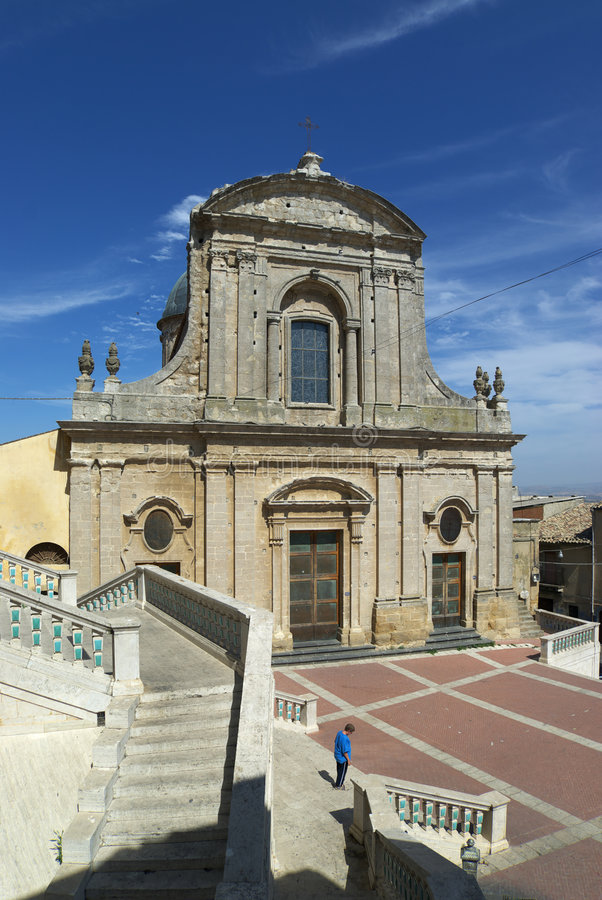 Chiesa van Caltagirone royalty-vrije stock afbeeldingen