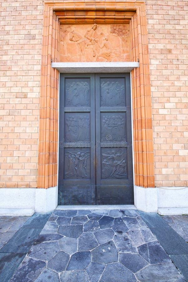 Chiesa Varese di Vergiate Italia la vecchia porta immagini stock