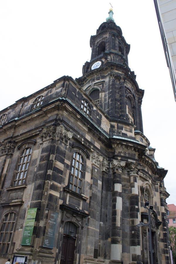 Chiesa vecchia a Dresda fotografia stock