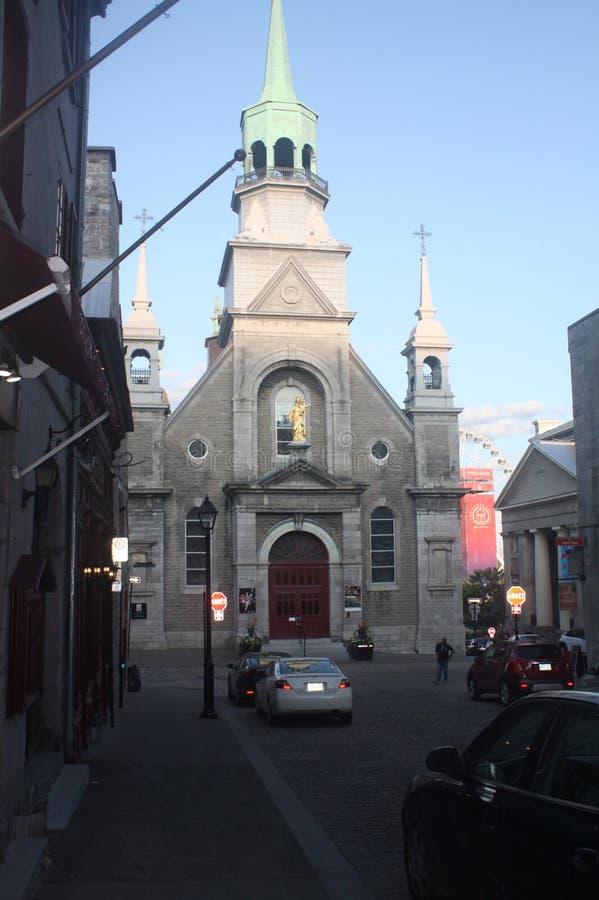 Chiesa in vecchio porto di Montreal immagine stock libera da diritti