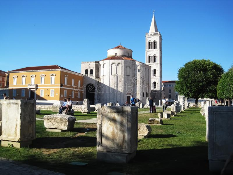 Chiesa in Zadar immagine stock