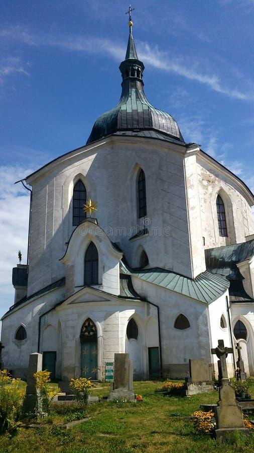 Chiesa in Zelena Hora, architettura di Santini, repubblica Ceca fotografie stock