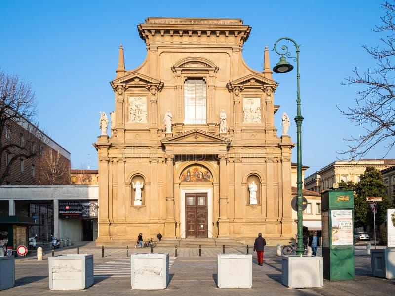 Chiesadei Santi Bartolomeo e Stefano in Bergamo stock foto