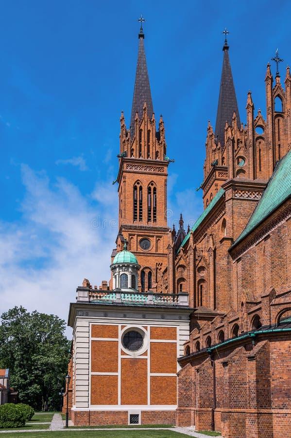 Chiese della Polonia - Wloclawek fotografie stock libere da diritti