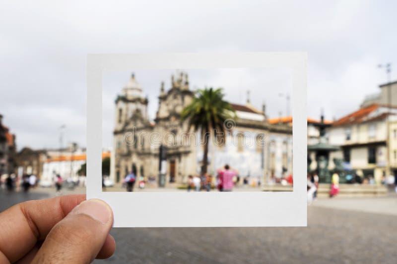 Chiese di Carmelitas e di Carmo a Oporto, Portogallo immagine stock libera da diritti
