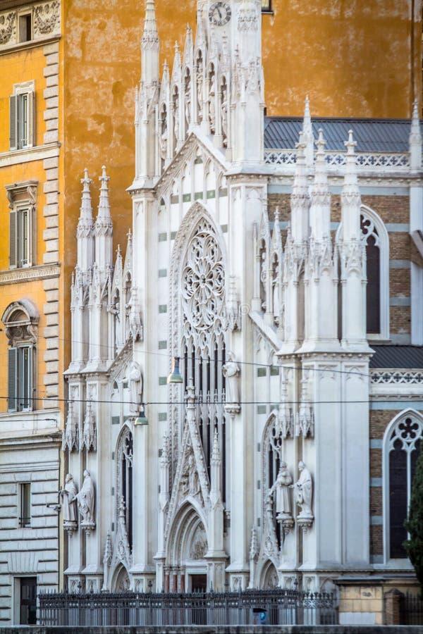 Chiese Parr Sacro Cuore Del Suffragio, Rome arkivfoton