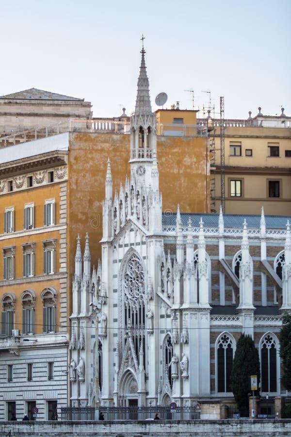 Chiese Parr Sacro Cuore Del Suffragio, Rome fotografering för bildbyråer